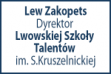 Lew Zakopets Director of the Lviv Secondary Special Music School named after S.Krushelnytska